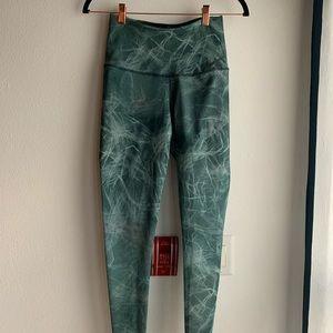 Long green athletic nike leggings